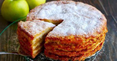 """Вкусный яблочный пирог """"Трехстаканник"""""""