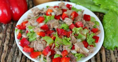 Будапештский салат с говядиной