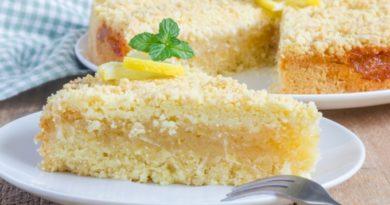 Лимонный пирог: пошаговый рецепт