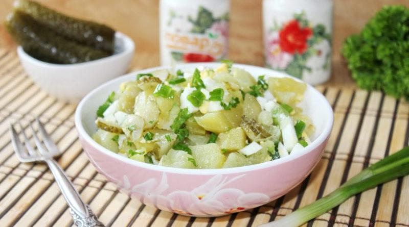 """Салат """"Домашний"""" с картофелем и зеленым луком"""