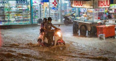 Карта ливней и наводнений на тайских курортах в ближайшие дни