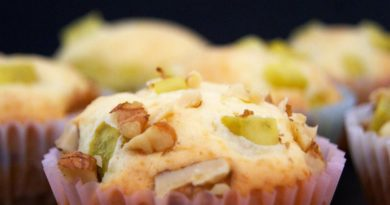 Кексы с картофелем и орехами