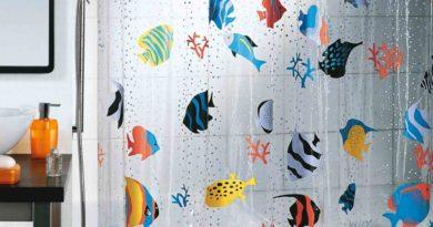 Разновидности занавесок для ванной комнаты.
