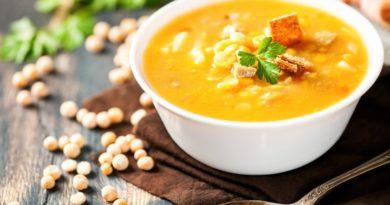 Гороховый суп-пюре с копченой корейкой