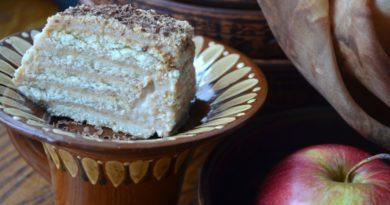 Простой тортик без выпечки из сахарного печенья