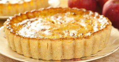 Рецепт пирога с яблоками и шоколадно-сливочным кремом