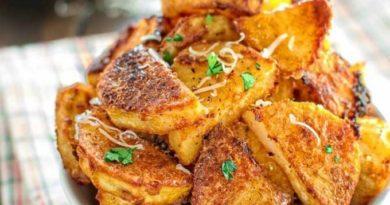 Картофель с сырной панировке