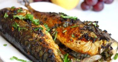 Идеальный рыбный ужин-запеченная скумбрия