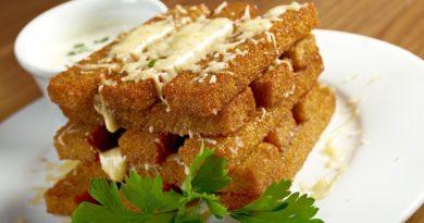 Литовские гренки с сыром