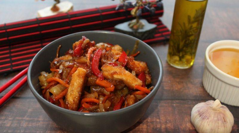Стир-фрай из свинины с овощами