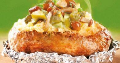 Запеченный картофель с начинкой