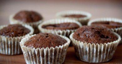 Пышные шоколадные кексики к чаю или кофе