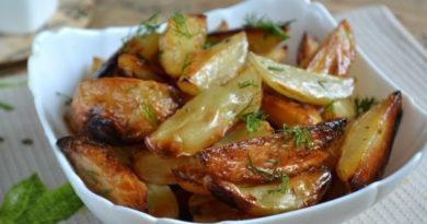 Картофель по-деревенски в духовке.