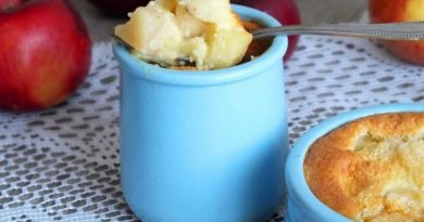 Пудинг из яблок — нежный десерт
