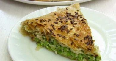 Пирог из лаваша с кабачком и сыром в духовке