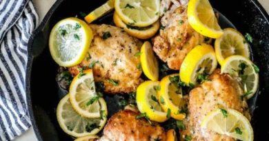 Простой рецепт курицы с лимоном