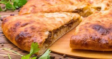 Осетинский пирог с мясным фаршем
