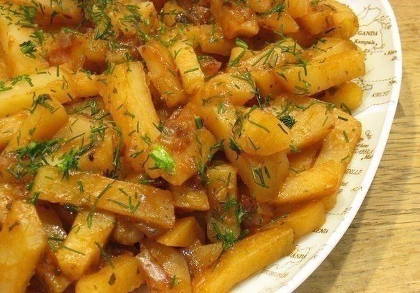 """Вкусная картошка в мультиварке на режиме """"Выпечка"""""""