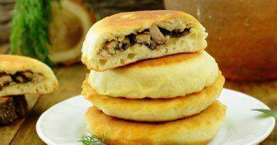 Лепёшки с мясом и грибами