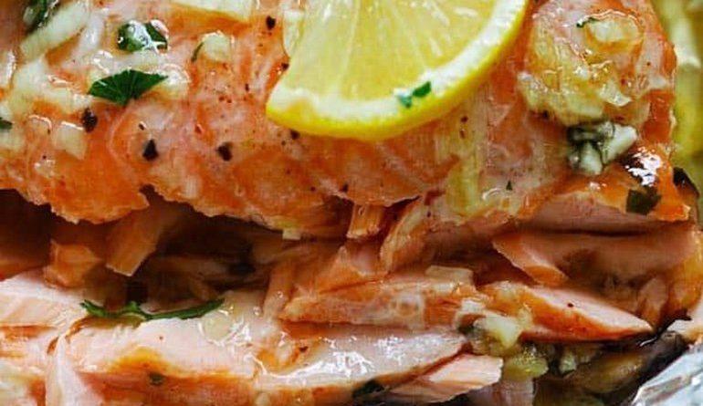 Запечённое филе лосося