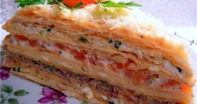 Оригинальный рецепт овощного торта «Наполеон»