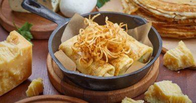Рецепт блинов «Три сыра»