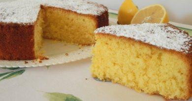 Воздушный лимонный пирог