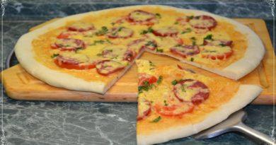 Итальянская пицца на тонком тесте