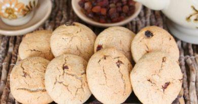 Печенье с изюмом из ржаной муки