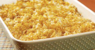Картофельная запеканка с кукурузными хлопьями