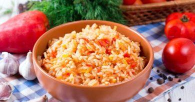 Постный рис с овощами