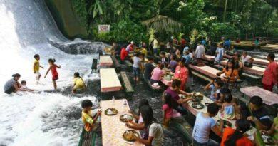 Обед в водопаде: где находится самый необычный ресторан на Филиппинах