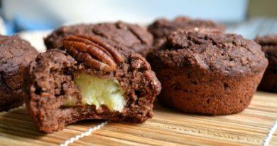 Шоколадные кексы с бананом