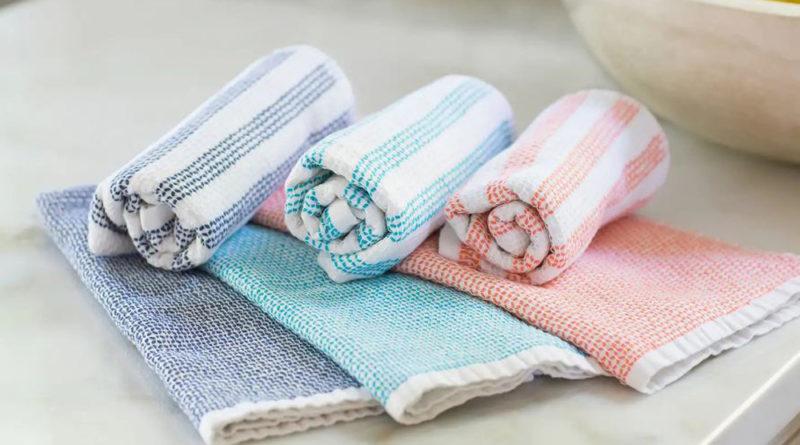 Попробуйте постирать полотенце так