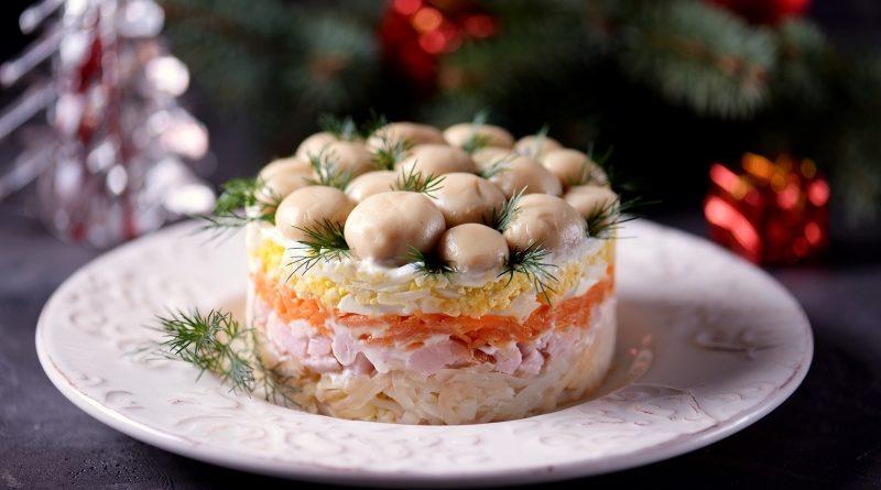 Салат «Грибы под снегом»