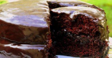 Простой шоколадный торт к чаю или кофе.