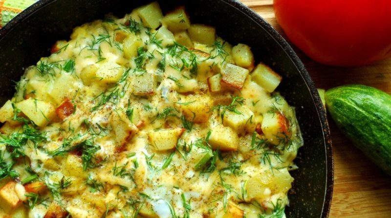 Картошка с сыром на сковороде