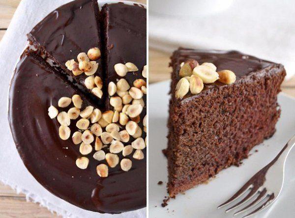 Шоколадный торт с портвейном