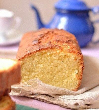 Бисквитный кекс на сливках