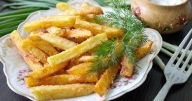 Готовим домашний картофель фри