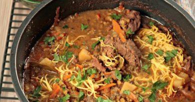 Узбекский суп маш угра