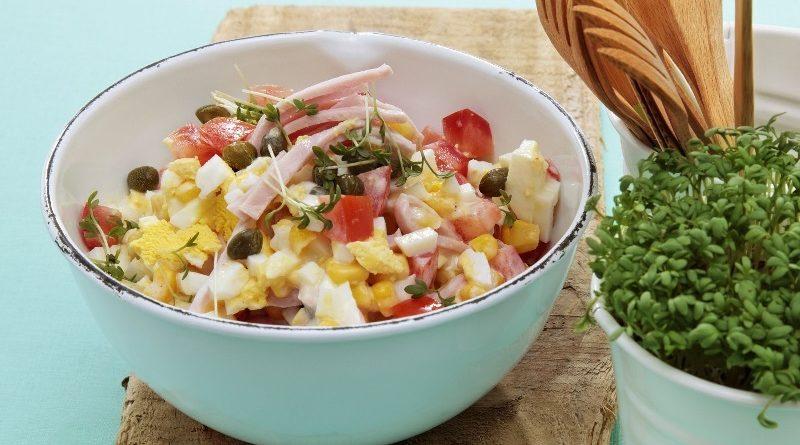Ветчинный салат с оливками. Такого вы еще не ели!