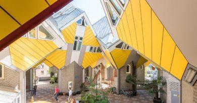 Необычные постройки в Роттердаме. Как живут люди в таких домах