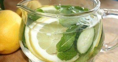 Домашний напиток из огурца с лимоном для похудения