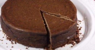 Шоколадно-кофейный чизкейк с вафельно-кокосовой основой