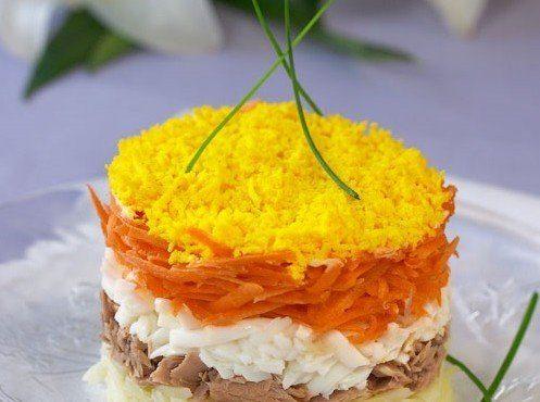 Салат «Мимоза» - диетический вариант