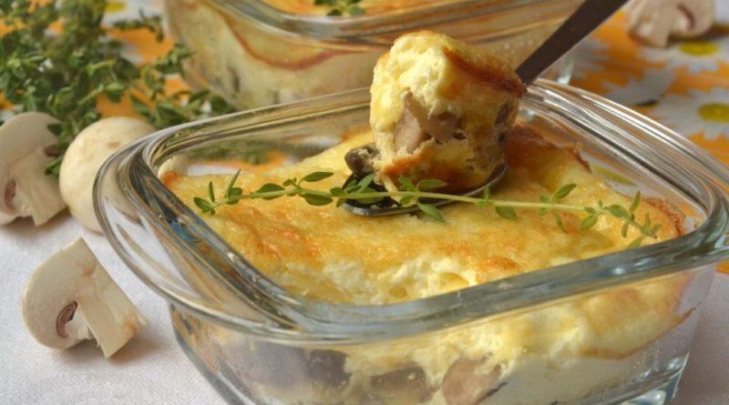 Жульен-суфле с грибами