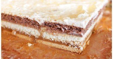 Слоёный торт без выпечки