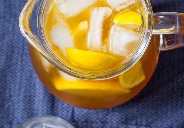 Имбирно-лимонный ледяной чай