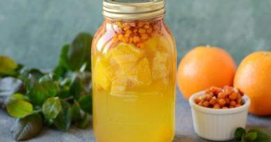 Апельсиново-облепиховый компот